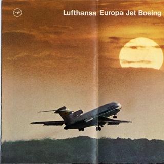 brochure: Lufthansa German Airlines, Boeing 727