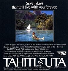 advertisement: UTA (Union de Transports Aériens), Travel & Leisure
