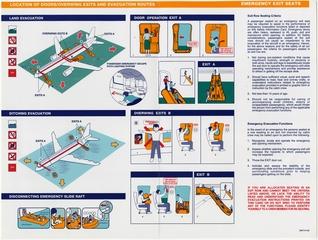 safety information card: Silk Air, Airbus A320
