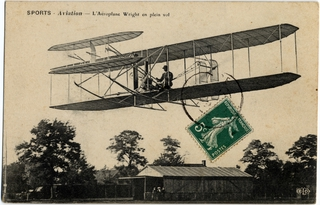 postcard: Wright Brothers Flyer