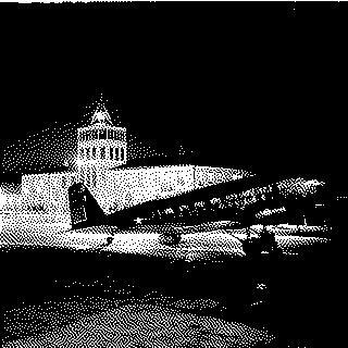 postcard: San Francisco Airport, Douglas DC-2