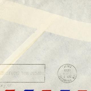 airmail flight cover: Pan American World Airways, Tokyo - San Francisco route