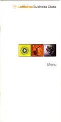 menu: Lufthansa German Airlines, Business Class