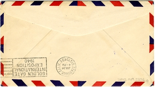 airmail flight cover: Pan American Airways, first airmail flight, New Zealand - United States route