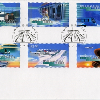 airmail flight cover: Hong Kong International Airport, Opening Day