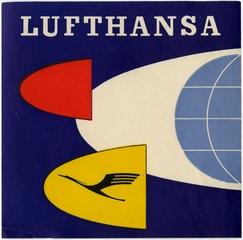 luggage label: Lufthansa German Airlines