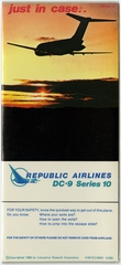 safety information card: Republic Airlines, Douglas DC-9