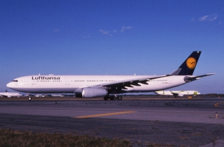 slide: Lufthansa German Airlines, Airbus A330-300, John F. Kennedy International Airport (JFK)