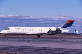 slide: Delta Air Lines Connection, Bombardier CRJ200, John F. Kennedy International Airport (JFK)