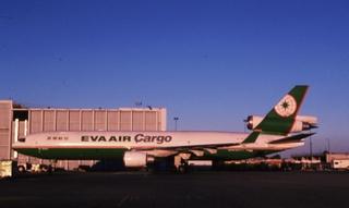slide: EVA (Evergreen Airways) Cargo, McDonnell Douglas MD-11, John F. Kennedy International Airport (JFK)