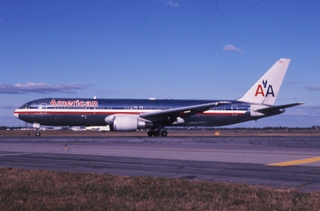 slide: American Airlines, Boeing 767-200, John F. Kennedy International Airport (JFK)