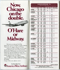 timetable: America West Airlines