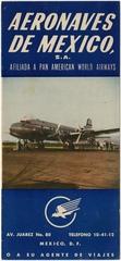 timetable: Aeronaves de Mexico, Pan American World Airways