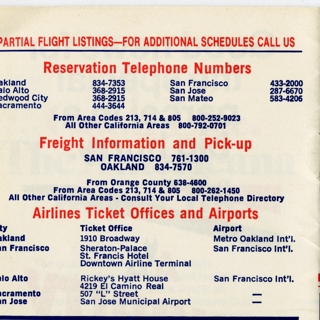 timetable: American Airlines, San Francisco / Oakland