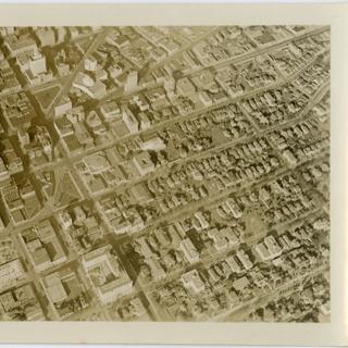 photograph: San Francisco Bay Area aerial, downtown Oakland