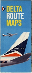 route map: Delta Air Lines, domestic and Caribbean routes