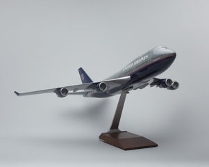 model airplane: United Airlines, Boeing 747-400