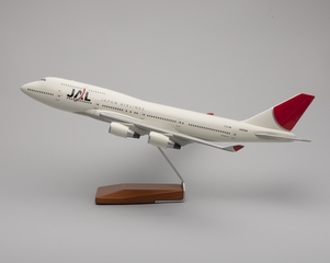 model airplane: JAL (Japan Airlines), Boeing 747-400