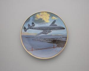 commemorative plate: Pan American World Airways, Lockheed L-749 Constellation