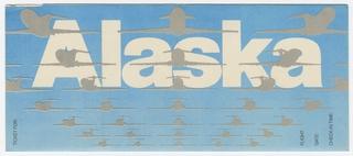 ticket jacket: Alaska Airlines