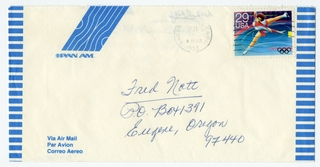 airmail flight cover: Pan American World Airways