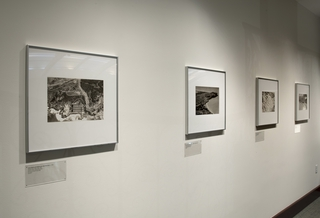 "Installation view of ""Above the Bay: The Aerial Photography of Stanley Page"""