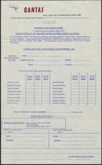 airmail flight cover order form: Qantas Airways, Boeing 707