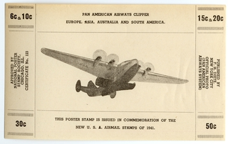 postage stamp: Pan American Airways System, Clipper poster stamp