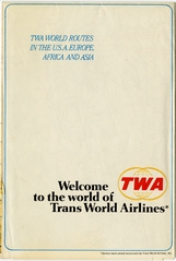 route map: TWA (Trans World Airlines), international and domestic