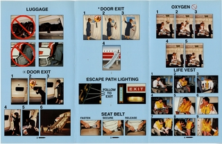 safety information card: TWA (Trans World Airlines), Boeing 767-300