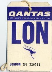 baggage destination tag: Qantas Airways