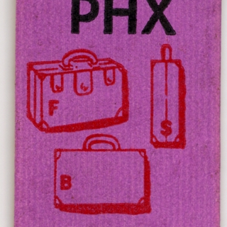 baggage destination tag: TWA (Trans World Airlines)