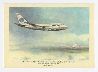 menu: Pan American World Airways, Historic First Flights series, Boeing 747SP