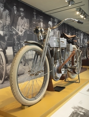"Installation view of ""Early American Motorcycle"""