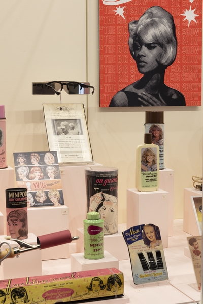 "Installation view of ""Hair Style"""