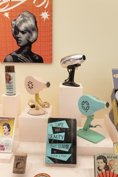 """Installation view of """"Hair Style"""""""
