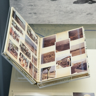 """Installation view of """"Flying the Freedom Birds: Airlines and the Vietnam War"""""""