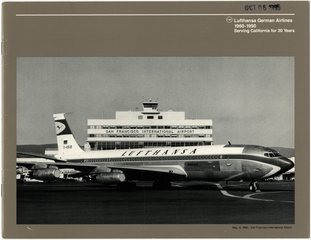 booklet: Lufthansa, Boeing 707-430, San Francisco International Airport (SFO)